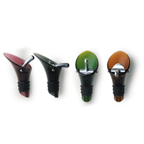 Orka Wine Bottle Pourer and Stopper in Assorted Colors
