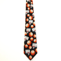 Basketball Hoop Game Ball Neck Tie