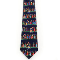 Alynn Tee Time Golf Bag Navy Silk Tie Necktie