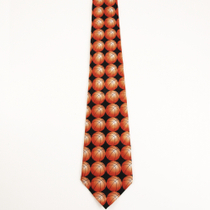 Basketball Orange Game Ball Neck Tie