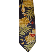 Exotic Cocktails Tropical Blue Necktie