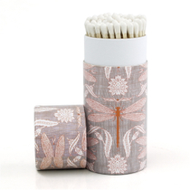 Homart Long Decorative Matches in Purple Dragonfly Cylinder