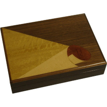Penavico Humidor With Multi-Colored Hand Crafted Wood Inlays