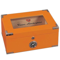 Lamborghini Rare Orange Pilot Cigar Humidor