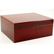 Cherry Cigar Humidor with Hygrometer and Humidifier 50 Count
