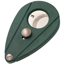 Xikar Xi2 Double Blade Cigar Cutter in Malachite Green