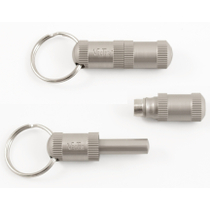 Vector Chrome Heavy Metal Cigar Punch Cutter Key Ring