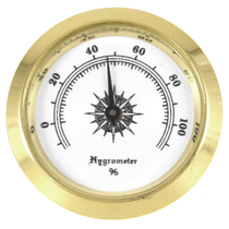 Small #2 Round Analog Hygrometer Humidity Gauge Humidor