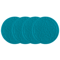 Le Creuset Caribbean Silicone French Coaster, Set of 4