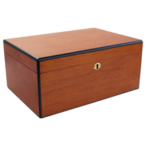 Savoy by Ashton Large Humidor in Pearwood, 100 Cigar Capacity
