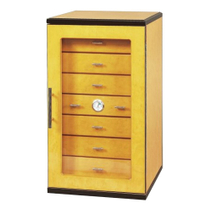 Dolce Sogni 7 Drawer Tower Cigar Humidor in Yellow