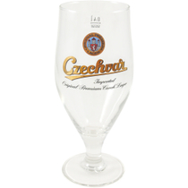Czechvar 17 Ounce Cervoise Lager Beer Glass, Set of 6