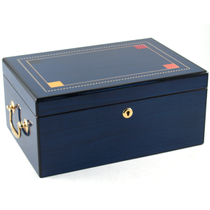 Santiago Blue Cigar Humidor Color Square Inlay Humidors