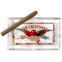 San Cristobal Rectangular Glass 4 Cigar Ashtray