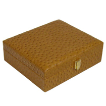Ostrich Pattern 20Ct. Leather Travel Humidor