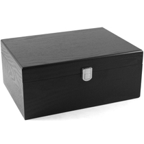 Black Natural Wood Cigar Humidor 50 -70 ct