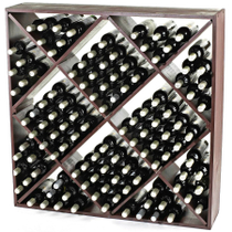 Wine Enthusiast Mahogany Jumbo Bin Wine Rack, 120 Bottle Capacity