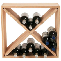 Wine Enthusiast Natural Wood 24 Bottle Compact Cellar Cube Wine Rack