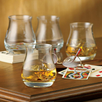 Wine Enthusiast Glencairn Crystal Wide-Bowl Whisky Glass, Set of 4