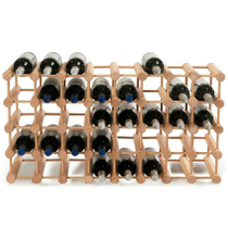 Wine Enthusiast Natural Wood Modular Wine Rack, 40 Bottle Capacity