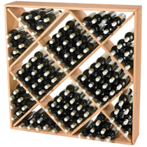 Wine Enthusiast Natural Wood Jumbo Bin Wine Rack, 120 Bottle Capacity