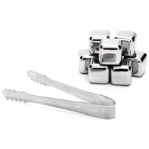 Onyx Stainless Steel Ice Cube Set with Tongs