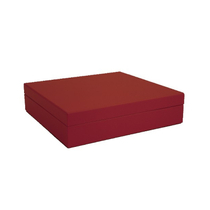 Travel Matte Red Cigar Humidor + Humidifier 15-20 Ct