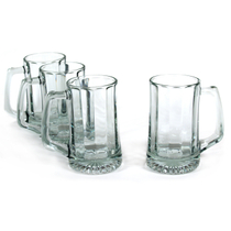 Luminarc on Tap 13.75 Ounce Glass Laser Mug, Set of 4