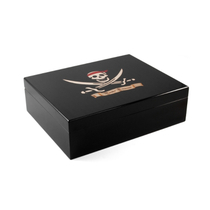 Pirate Treasure High Gloss Cigar Humidor 75 Count
