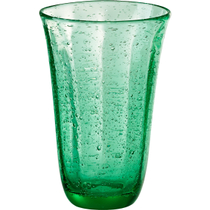 Artland Savannah Green Bubble Glass 18 Ounce Highball Tumbler