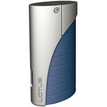Lotus L18 Curve Torch Flame Lighter Blue Matte