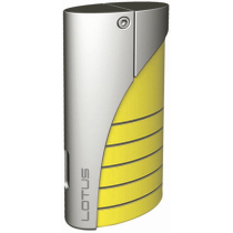 Lotus L18 Curve Torch Flame Lighter Yellow Gloss