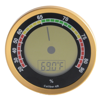 Cigar Oasis Western Humidor Caliber 4R Gold Digital Hygrometer and Thermometer