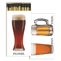 Homart Long Decorative Matches in Beer Sign Box