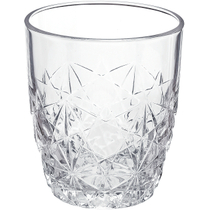 Bormioli Rocco Dedalo Rocks Crystal Cut Tumbler, Set of 6