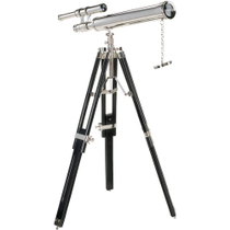 Authentic Models 19th Century Victory in Sight Tabletop Telescope on Tripod