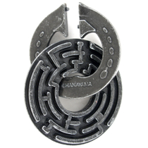 Hanayama Cast Metal Level 5 Labyrinth Brainteaser Puzzle