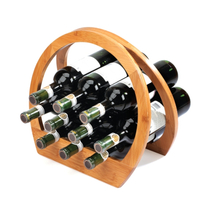 Umbra Barrel Bamboo Folding Wine Rack for 12 Bottles