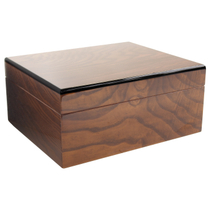 Savoy by Ashton Small Humidor in Ash Burl, 25 Cigar Capacity