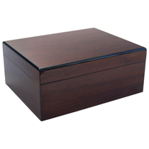 Savoy by Ashton Medium Humidor in African Teak, 50 Cigar Capacity