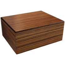 Savoy by Ashton Medium Humidor in Zebrawood, 50 Cigar Capacity