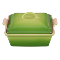 Le Creuset Heritage Palm Stoneware Covered Square Casserole Dish, 2.5 Quart