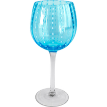 Artland Cambria Turquoise Goblet Wine Glass, 18 Ounce