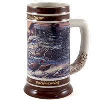 Miller Peaceful Evening Collectible Holiday Beer Stein