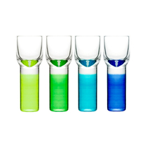 Sagaform Club Blue Green 1.4 Ounce Shot Glasses, Set of 4