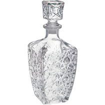 Bormioli Rocco Dedalo Crystal Cut Glass Whisky / Liquor Decanter