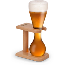 Final Touch Quarter Yard Beer Glass with Stand, 13.5 Ounce