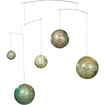 Authentic Models Historical Globe Mobile