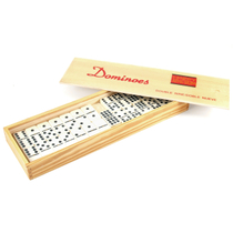 Double Nine Dominoes Set In Wood Box