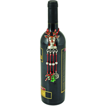 True Fabrications Reindeer Wine Bottle Necklace With Charms
